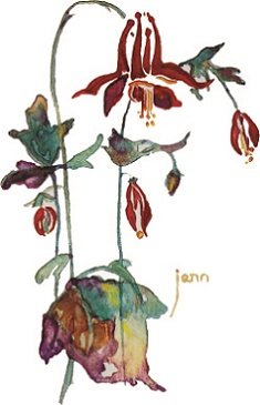 New Water Color Flower 6-1